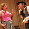 """Gloucester: Tina Greel and Gordon Baird rehearse a scene from """"The Beauport Anthologies,"""" a dramatization of coloful Gloucester historical personalities, which will be performed at the Universalist Church on Middle Street on June 4 at 8 p.m. Photo by Kate Glass/Gloucester Daily Times"""