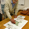 Gloucester: J.J. Bell of the Cape Ann Museum goes over the plans for a new park that will replace the derelict Moose Hall building across the street from the Cape Ann Museum. The Cape Ann Museum purchased the property and will also use the land for additional parking. Mary Muckenhoupt/Gloucester Daily Times