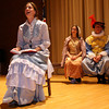 "Gloucester: Talia Brown, Nora Messier, and David Adams rehearse a scene from ""The Beauport Anthologies,"" a dramatization of coloful Gloucester historical personalities, which will be performed at the Universalist Church on Middle Street on June 4 at 8 p.m. Photo by Kate Glass/Gloucester Daily Times"