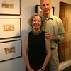 "Deborah Epstein and her husband, Alan Joslin, will have their works displayed at the Mercury Gallery. Epstein's ""Woven Work"" and Joslin's ""Sketchbooks"" will open May 28th. Photo by Kate Glass/Gloucester Daily Times"