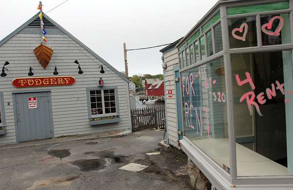 Rockport: Only a handful of storefronts on Bearskin Neck are still vacant leading into Memorial Day weekend, which kicks off the summer season. Photo by Kate Glass/Gloucester Daily Times