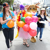 Rockport: Ari Morris,Katrinia Tuck,Maddie Wnorowski,and Katharine Boucher all from Rockport, walk Bearskin Neck handing out ballons and flyers for the First Baptist Church of Rockports Vacation Bible School, at Motif#1 Celebration Day Saturday afternoon Desi Smith/Gloucester Daily Times.