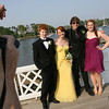 Manchester: Ryan Wiklund, Julia Toby, Nick Bauwer and Leanne Ciccone pose for pictures at Tuck's Point before heading to the Manchester Essex High School prom at the New England Aquarium last night. Photo by Kate Glass/Gloucester Daily Times