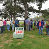 "Gloucester: Gardeners leave the Gloucester Garden Club's  annual ""Hello Spring!"" plant sale Saturday afternoon next to the tennis court on Stacy Boulevard. Where beginners and experienced gardeners came to pick up an assortment of tried and true plants from members' gardens. Proceeds fund community plantings and other good works..Desi Smith/Gloucester Daily Times."