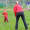 Manchester:  Matthew DeOreo 2, keeps his eye on the ball tossed by his mom Sara Saturday morning at Massconomo Park. Desi Smith/Gloucester Daily Times.