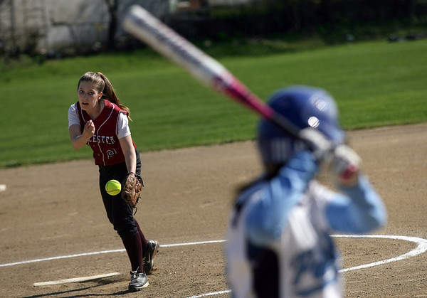 Gloucester: Gloucester pitcher Emily Natti started during their game against Peabody yesterday. Photo by Kate Glass/Gloucester Daily Times