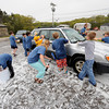 Rockport: Rockport Cub Scout Pack 55 wash cars at the Rockport DPW Saturday afternoon. Desi Smith/Gloucester Daily Times.