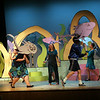 "Tchelsea Grenfell is surrounded by fish during a dress rehearsal for Rockport High School's production of ""Seussical,"" which will be performed tonight at 7, tomorrow at 2 and 7, and Sunday at 2 in the John E. Lane Performing Arts Center. The set was primarily designed by senior Melanie Koerth. Photo by Kate Glass/Gloucester Daily Times"