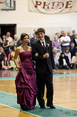 Rockport: Samantha Aiello laughs while walking the carpet with Shaffy Roell during the Rockport High School Promenade last night. The prom was held at Endicott College's Tuppor Manor. Photo by Kate Glass/Gloucester Daily Times
