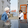 Rockport: Visitors walk the streets of Rockport Saturday afternoon at Motif#1 Celebration Day.  Desi Smith/Gloucester Daily Times.