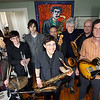 """Alek Razdan, center, a senior at Rockport High School, will be the focus of a special concert at the Shalin Liu Performance Center on May 17th. He will be performing with Alex Caffi, Erik Lees, Evan Razdan, Robin Lovell, Ken DeMaine, Willie """"Loco"""" Alexander, Rikki Razdan, Dan Whalen and (not shown) David """"Doc"""" Vincent, and John Hyde. Photo by Kate Glass/Gloucester Daily Times"""