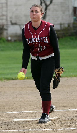 Gloucester pitcher Samantha Lewis got the start for their game against Swampscott at Burnham Field yesterday. Photo by Kate Glass/Gloucester Daily Times