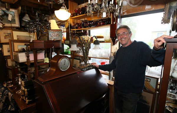 Bob Coviello, owner of Main Street Antiques in Essex. Photo by Kate Glass/Gloucester Daily Times