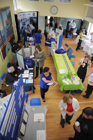Manchester:  Representatives from local agencies were on had at the Manchester Community Center Saturday morning, with informational brochures, free gifts, screenings and demonstrations, at the Health and Wellness Fair. t Desi Smith/Gloucester Daily Times.