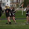 Beverly's Carly Baker, right, celebrates her goal with her teammates during their game against Gloucester at Newell Stadium. Photo by Kate Glass/Gloucester Daily Times