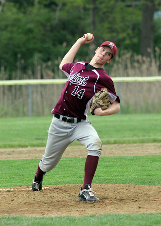 Essex: Rockport pitcher Tucker Meredith threw against Manchester Essex yesterday. Photo by Kate Glass/Gloucester Daily Times