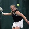 Manchester: Hamilton-Wenham's Charlotte Horton lines up a shot while playing Manchester Essex's Michelle Fuca at the Manchester Athletic Club yesterday afternoon. Photo by Kate Glass/Salem News