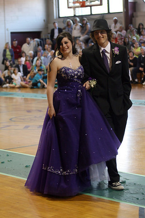 Rockport: Ning Gallo and Dylan Enis walk the carpet during the Rockport High School Promenade last night. The prom was held at Endicott College's Tuppor Manor. Photo by Kate Glass/Gloucester Daily Times