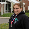 Siennica Service, a senior at Gloucester High School, recently won first place in the nation for drill excellence at the Junior ROTC competition in North Carolina. Photo by Kate Glass/Gloucester Daily Times