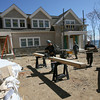 Windover construction is currently building a 5,000 sq foot home near Hammond Castle in Magnolia. The construction company has been very successful, despite the nationwide slump in new home construction. Photo by Kate Glass/Gloucester Daily Times