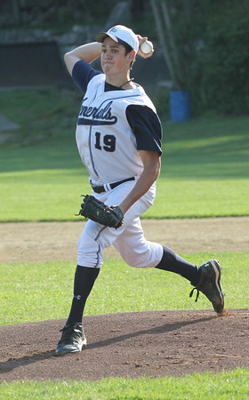 Rockport: Hamilton-Wenham's Cam Charrette was the starting pitcher for the Cape Ann League Small during the Cape Ann League All-Star Game at Evans Field yesterday. Photo by Kate Glass/Gloucester Daily Times