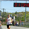 Jesse Poole/Gloucester Daily Times May 12, 2012 GLOUCESTER— David Swanson, 26, of Cambridge, finishes the Twin Lights Half Marathon in first place at one hour, 13 minutes and 49 seconds on Saturday morning.