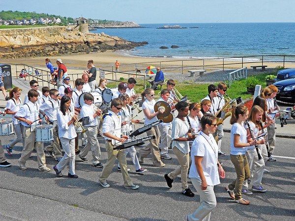Gail McCarthy/Gloucester Daily Times May 28, 2012 ROCKPORT— Students of Rockport Public Schools participate in the town's annual Memorial Day services.