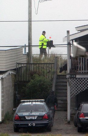 ALLEGRA BOVERMAN/Staff photo. Gloucester Daily Times. Rockport: State and Rockport police searched Long Beach again on Friday afternoon. One of two K-9 units also searched on Friday.
