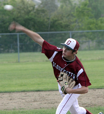 ALLEGRA BOVERMAN/Staff photo. Gloucester Daily Times. Gloucester: Gloucester High School pitcher Sean Gillon in action during their game against Beverly on Friday evening.