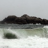 Rough water at Singing Beach on a rainy Tuesday afternoon. Jesse Poole/Gloucester Daily Times May 1, 2012