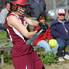 ALLEGRA BOVERMAN/Staff photo. Gloucester Daily Times. Gloucester: Gloucester's Sophia Black in action against Lynnfield in Gloucester on Friday afternoon. Gloucester beat Lynnfield 6-5.