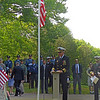 Gail McCarthy/Gloucester Daily Times May 28, 2012 ROCKPORT— Samuel Coulbourn, a retired U.S. Navy captain, serves as guest speaker at Rockport's Memorial Day Ceremony on Monday morning.