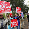 ALLEGRA BOVERMAN/Staff photo. Gloucester Daily Times. Rockport: Holding candidate signs along Jerdens Lane at Summer Street in Rockport on Tuesday afternoon are, from left: Mel Michaels, Margaret Sullivan, Tacy San Antonio and Bob Bontempo.