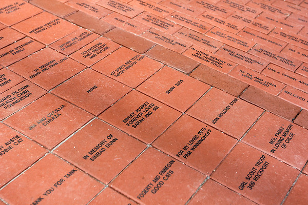 ALLEGRA BOVERMAN/Staff photo. Gloucester Daily Times. Gloucester: The new brick walkway at the Christopher Cutler Rich Animal Shelter.