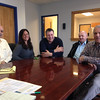 SEAN HORGAN/Staff photo<br /> Gloucester Seafood Processing officials, from left, Alan Pothier, quality assurance manager; Gayle Movalli, human resources; Frank Ragusa, director of fresh seafood; Dave Fitzgerald, general manager; and Sam Santuccio, facilities manager.