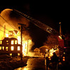 Gloucester: A fast-moving, eight -alarm fire early Saturday morning destroyed a four-story apartment building on Middle Street  and Temple Ahavat Achim. Photo by Jim Daly/Gloucester Daily Times Saturday, December 15, 2007