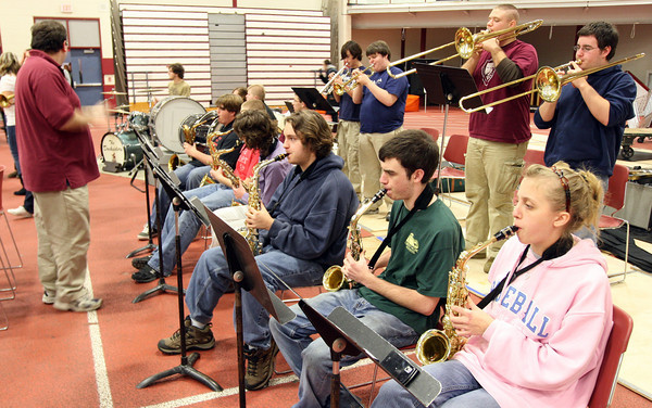 Gloucester: The Docksiders perform at the pep rally for the Thanksgiving football game in the Benjamin A. Smith Field House on Wednesday. The band will be traveling to Hawaii in April and has been holding fundraisers for the trip throughout the year. Photo by Kate Glass/Gloucester Daily Times Wednesday, November 25, 2009