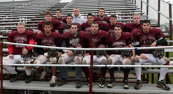 Gloucester: Front row (left to right): Kyle Jenkins, Kyle Lucido, Ryan Fulford, Brandon Cusamano, Mark Horgan, Marc Giacalone. Second row (left to right): Alex St. Peter, Alex Silveira, Mike Tomaino, Ben Chianciola, Anthony Latassa. Third row (left to right): Adam Philpott, Chris Unis, Brett Cahill. Photo by Kate Glass/GLoucester Daily Times