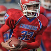 Gloucester: Alex Enos of the Charger's B-Team  carries the ball in for one of his 6 Touch Downs on the day,Sunday afternoon at Newell Stadium. Desi Smith Photo/Gloucester Daily Times. November 1,2009.