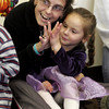 Gloucester: Lara Billante and her daughter, Daunika, 4, sing a turkey song during Gloucester Preschool's Thanksgiving dinner yesterday. The classes each performed for their families and then ate food the kids helped prepare. Photo by Kate Glass/Gloucester Daily Times Tuesday, November 24, 2009