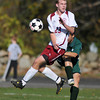 Rockport: Rockport's Sam Scatterday reacts to the ball,against Matigon Varsity Soccer Team, Sunday afternoon at RHS.Desi Smith Photo/Gloucester Daily Times. November 8,2009.