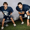 Hamilton: Joe Harmon, left, and Jon Fonvielle, both residents of Gloucester who play football for Pingree High School, have helped the Highlanders to a 7-1 record this year. Mary Muckenhoupt/Gloucester Daily Times