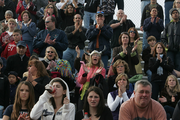 Lynn: Rockport fans cheer for the Vikings during the boys soccer tournament at Manning Field in Lynn Sunday afternoon.  Mary Muckenhoupt/Gloucester Daily Times