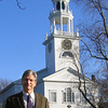 "Manchester: Rev John Hughes of First Parish Church, Congregational of Manchester will be discussing the history and mission of ""The Church on the Village Green, during a celebration of its 200th anniversary this Sunday at 10am. Photo by Jonathan Phelps/Gloucester Daily Times Wednesday, November 18, 2009"