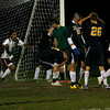 Rockport: Andreas Contreras screams in celebration following his game-winning goal in double overtime against Lynnfield in the Division 3 North quarterfinals at Rockport High School last night. Photo by Kate Glass/Gloucester Daily Times Tuesday, November 10, 2009