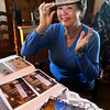 Rockport: Bea Waring of Rockport models the camouflage hat she wore while visiting troops in Afghanistan through the Miss America program recently. Bea was Miss America in 1948. Photo by Kate Glass/Gloucester Daily Times Monday, November 9, 2009