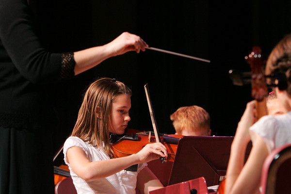Rockport: Rachel Haselgard plays the violin at the Big Gig Concert at Rockport High School Wednesday night. Mary Muckenhoupt/Gloucester Daily Times