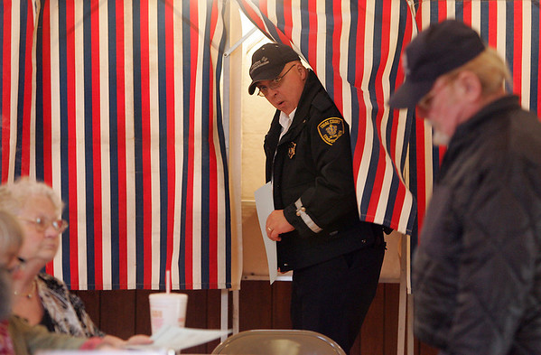 Gloucester: Mick Verga leaves the voting booth after casting his vote for the city election at Our Lady Of Good Voyage Youth Center, the Ward 2 precinct 1 location Tuesday afternoon. Mary Muckenhoupt/Gloucester Daily Times