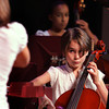 Rockport: Fifth grader Kiva Trumbour plays the cello under the direction of Katrina Benson as the fifth grade string orchestra plays Frere Jacques during the Orchestra Big Gig Concert at the Lane Performing Art Center at Rockport High School Wednesday night. Also pictured is Nicole Felder on bass, back. For more photos from the evening go to gtsnaps.smugmug.com. Mary Muckenhoupt/Gloucester Daily Times