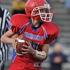 Gloucester: Charger's A-Teaqm's Devon Murry looks for a receiver down feild, in Sunday's match up against the Hampton Hill Tiger's at Newell Stadium. Desi Smith Photo/Gloucester Daily Times. November 1,2009.